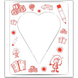 Printed Heart Picture Frame Magnet