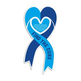 Heart Ribbon Magnet (.030 Thickness)