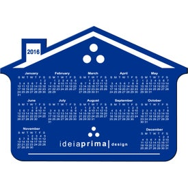 Imprinted Customizable House Calendar Magnet