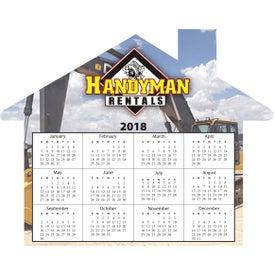 House Shaped Calendar Magnet