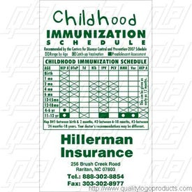 Child Immunization Schedule Info Magnet