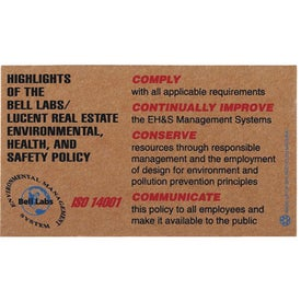 Jumbo Corrugated Business Card Magnet (.075 Thickness)