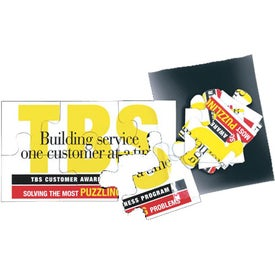 "Jumbo Puzzle Business Card Magnet (0.02"" Thick)"
