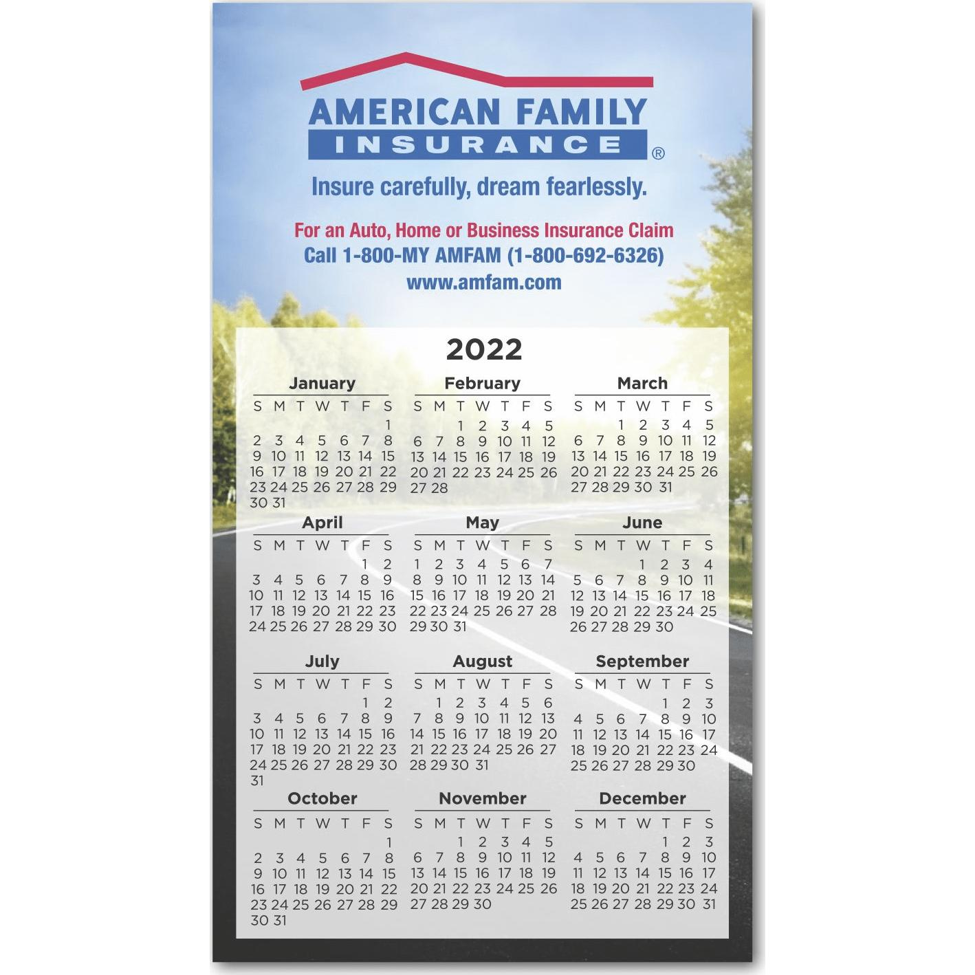 """Large Calendar Magnet (6.9"""" x 3.9"""", .030 Thickness)"""