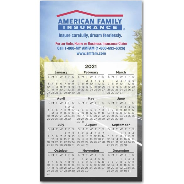 Full Color Imprint Large Calendar Magnet