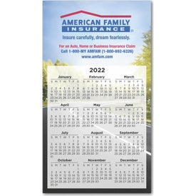 "Large Calendar Magnet (6.9"" x 3.9"", .020 Thickness)"