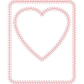 Small Picture Frame Magnet (Heart, 30 Mil)