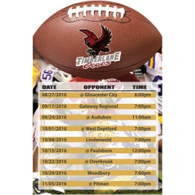 "Magnetic Football Schedule (0.02"" Thick)"