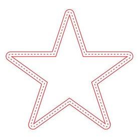 Medium Stock Shape Magnet (Star - 30 Mil)