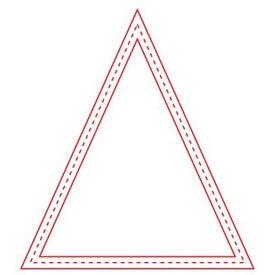 Medium Stock Shape Magnet (Triangle - 30 Mil)