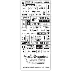 Personalized Message Magnet with Business Card for Promotion