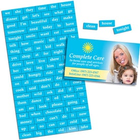 Message Magnet with Business Card for your School