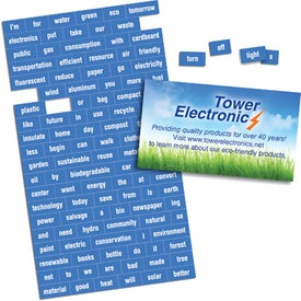 "Business Card Message Magnet with 116 Words (0.02"" Thick)"