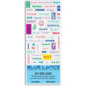 Promotional Message Magnet with Business Card