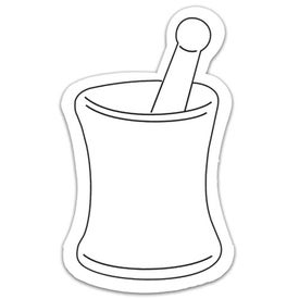 Mortar and Pestle Magnet Shape with Your Logo