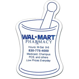 Mortar and Pestle Magnet Shape with Your Slogan