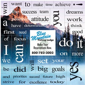 Mountain Message Magnet with 49 Words (.020 Thick)