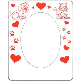 Oval Picture Frame Magnet Printed with Your Logo