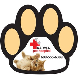"Paw Print Magnet (0.02"" Thick)"