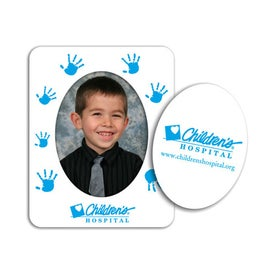 Oval Picture Frame Magnet Imprinted with Your Logo
