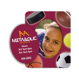 Oval Picture Frame Magnet with Your Logo