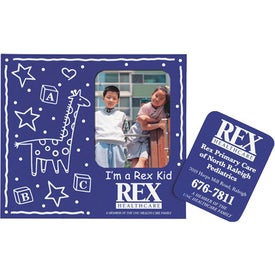 "Baby Theme Frame Magnet w/Rectangles (0.02"" Thick)"
