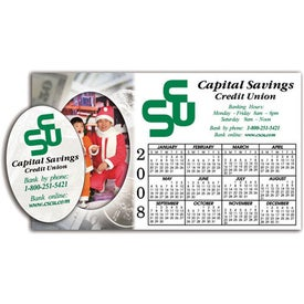 Promotional Calendar Picture Frame Magnet w/ Oval
