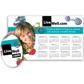 "Calendar Picture Frame Magnet w/ Ovals (0.02"" Thick)"