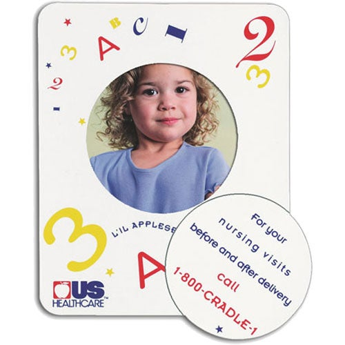 Full Color Imprint Picture Frame Magnet with Circle