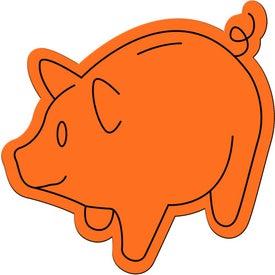 Imprinted Piggy Bank Magnet