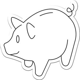 Piggy Bank Magnet Branded with Your Logo