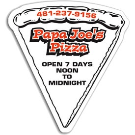 Pizza Slice without Toppings Magnet (.020 Thickness)
