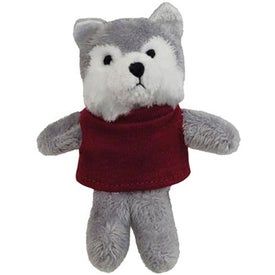 Plush Wolf Magnet