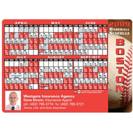Professional Baseball Schedule Magnet (.020 Thickness)