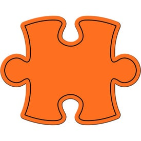 Monogrammed Puzzle Piece Magnet