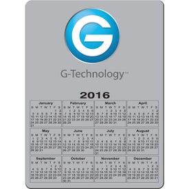 Imprinted Rectangle Calendar Magnet