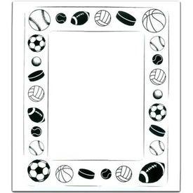 Monogrammed Rectangle Picture Frame Magnet