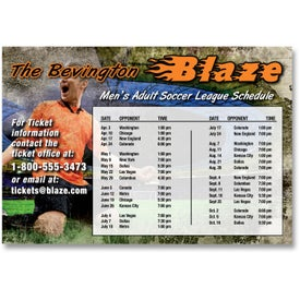"""Sports Schedule Magnet (4"""" x 5.875"""", .020 Thickness)"""