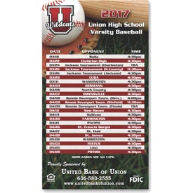 Custom Rectangle Sports Schedule Magnet (.020 Thickness)