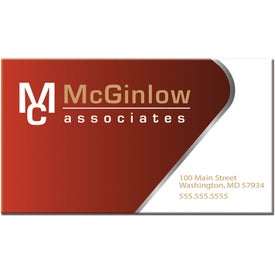 Rectangular Business Card Magnet for Advertising