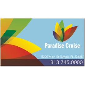 Rectangular Business Card Magnet Printed with Your Logo