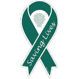 "Organ Donor Ribbon Magnet (0.03"" Thick)"