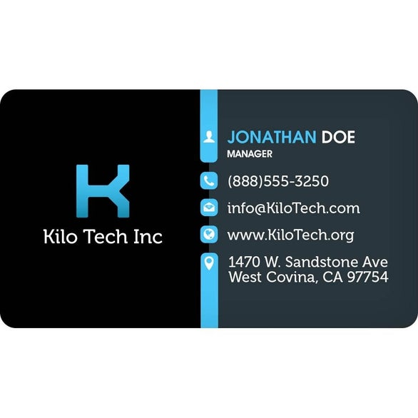 Full Color Imprint Round Corners Business Card Magnet