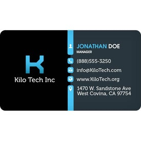 "Round Corners Business Card Magnet (0.02"" Thick)"