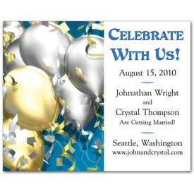 Save the Date Magnet (Balloons, .020 Thickness)