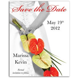Save the Date Magnet (Bride/Flowers, .020 Thickness)
