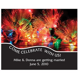Save the Date Magnet-Celebration Lights (.020 Thick)