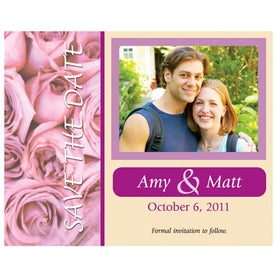 Save the Date Magnet (Couple Roses, .020 Thickness)