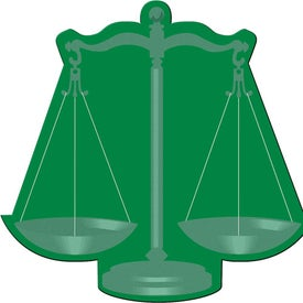Monogrammed Scales of Justice Flexible Magnet