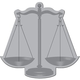 Scales of Justice Flexible Magnet for Advertising